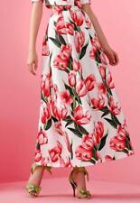 Gonna Allure bianco e rosso con paiette 46 Elegant dress Elegantes Kleid Robe