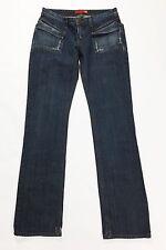 Liu jo jeans charly pants w30 44 gamba dritta dritti donna slim usati blu T1214