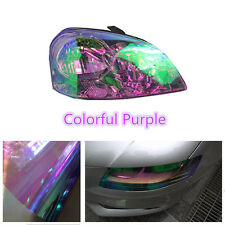200x30cm Colorful Purple Car Headlight Tint Vinyl Wrap Film Sheet Cover Sticker