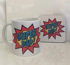 DAD Fathers Day Personalised mug and coaster gift set