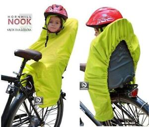 CHILD BIKE SEAT CARRIER Cycling Raincoat JUNIOR CAPE COAT PONCHO NOOK Yellow