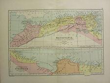 1904 MAP OF ANCIENT HISTORY ~ MAURETANIA NUMIDIA & AFRICA ~ CYRENAICA EGYPTIAN