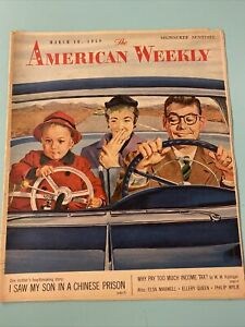 1958 March 16 AMERICAN WEEKLY MAGAZINE Bob Hilbert Cover Chinese Prison
