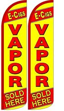 E-Cigs Vapor (Yellow) Windless Standard Size Polyester Swooper Flag Sign Pk of 2
