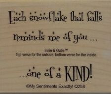 NEW MSE! My Sentiments Exactly! Mounted Wood Rubber Stamp Q258 One Of A Kind