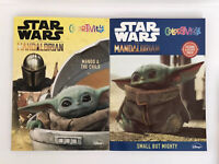 2 Star Wars Mandalorian Baby Yoda Coloring & Stickertivity Books Kids Boys Art