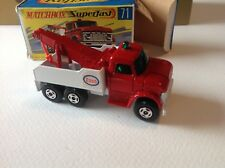Matchbox Superfast Transitional Ford Heavy Wreck Truck-Factory Fresh w Orig Box