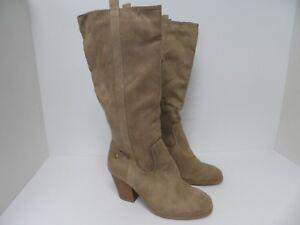 Makalu Women's Goli Knee High Fashion Boots Taupe Mismate R7 L7.5M
