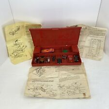 Vintage Lot Assorted Slot Car Bodies Pieces And Carrying Case