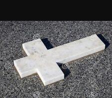 Cross white granite gravestone