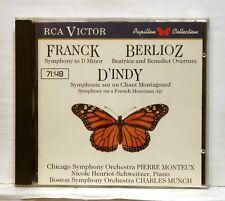 HENRIOT-SCHWEITZER, MONTEUX - FRANCK symphony BERLIOZ, D'INDY - RCA CD NM