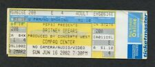 Britney Spears 2002 Unused Concert Ticket Houston TX Dream Within A Dream Tour