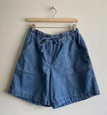 Vintage Mom Shorts Studio Works Size 14 Denim Jean High Waisted Stretch Tie