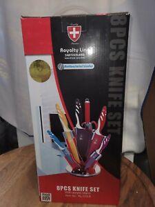 Royalty Line - Schweizer Messerset - 8 teilig - mehrfarbig - Neu - für Studenten