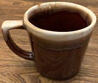 Vintage McCoy Pottery Brown Drip Glazed Coffee Mug 10oz