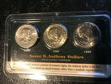 UNCIRCULATED LITTLETON SUSAN B. ANTHONY DOLLARS-1979,1980,1999-JUN415