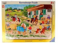 Ravensburger RIDING CAMP 13 Piece Children's Puzzle Horse Stable Animal #0009