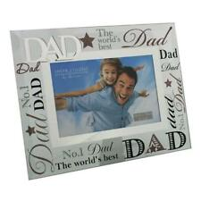 """Dad Gift - Worlds best dad glass picture photo frame 6""""x4"""" FG573D"""