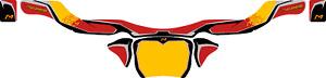 MARANELLO STYLE KG REAR BUMPER STICKER - KARTING -  JakeDesigns