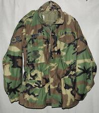 USAF Cold Weather Coat Woodland Camouflage M-65 Field Jacket LARGE REGULAR 1989