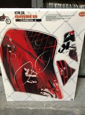Dirt Bike Decal Graphic Kit Sticker Wrap For KTM LC4/SX/XC 1993-1997 CARBONX RED