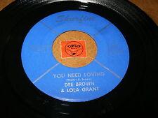DEE BROWN & LOLA GRANT - YOU NEED LOVING - WE BELONG / LISTEN - RNB SOUL POPCORN