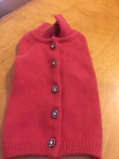 XS Dog Sweater  Rhinestone Buttons & Pearls