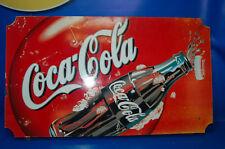 Poster Métal Coca-Cola dimensions 40 cm x 71cm x 2,5 cm -objets de collection