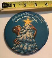 Universal Studios E.T. ET Pinback Button 1992 Holidays