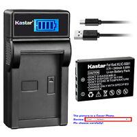 Kastar Battery LCD Charger for Kodak KLIC-5001 & Kodak EasyShare DX7630 Camera