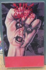 "Alice Cooper Laminated Backstage Pass ""Raise Your Fist"" Original & Authentic"