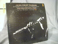 "Georg Philipp Telemann Six Sonatas Opus 5-2 Flutes-2 Violins 12"" Vinyl LP"