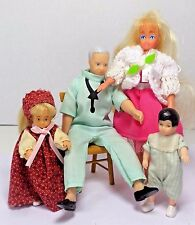 Miniature Dollhouse Horsman Dolls Dad & Kids