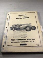 Allis Chalmers 145, 145T Motor Grader Parts Catalog Manual