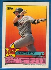 Carlton Fisk, Super Star, 1989 Topps Miniature Card #23, White Sox