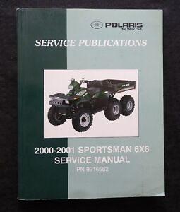 2000 2001 POLARIS SPORTSMAN 500 6x6 ALL TERRAIN VEHICLE ATV REPAIR MANUAL NICE
