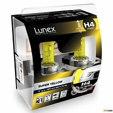 2x H4 Lunex SUPER YELLOW 2300K 60/55W 12V Bombillas Halógenas Faros Hard Case