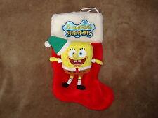 "Spongebob Squarepants 2005 Christmas Stocking Plush 15"" long"