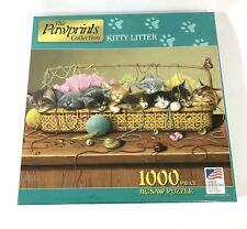 The Pawprints Collection Kitty Litter 1000 Piece Puzzle New Sealed