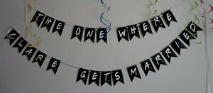 PERSONALISED FRIENDS TV SHOW INSPIRED PARTY BUNTING /BANNER /WEDDING , HEN PARTY