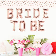 Rose Gold Foil BRIDE TO BE Balloons Wedding Balloon Party Bridal Hen's Night