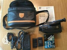 Ge 8mm Camcorder Cg818, Video Camera with Carrying Case & Accessories