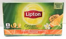 Lipton Green Tea Orange Passionfruit Jasmine 20 Tea Bags 1.6 oz