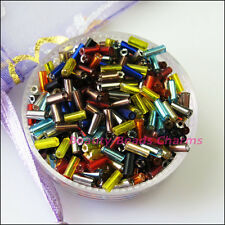 1500Pcs Mixed Tiny Tube Glass Spacer Beads Charms 4mm