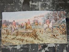 Vintage French Hunting Scene Tapestry 89x45cm (A852)