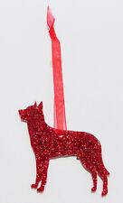 Beauceron Dog Glitter Christmas Decoration - 11 colour choices.