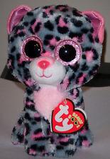 "Ty Beanie Boos ~ TASHA the 6"" Leopard ~ Stuffed Plush Toy ~ NEW with MINT TAGS"