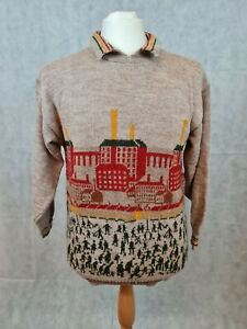 Vintage Tulchan Pure New Wool with Lowry Design Pattern Size L