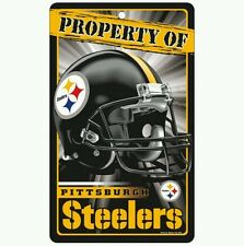 """PITTSBURGH STEELERS """"PROPERTY OF"""" SIGN FREE SHIPPING! Durable Poster"""