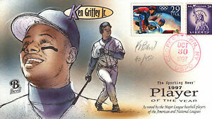 BEVIL HP SEATTLE MARINERS KEN GRIFFEY Jr. 1997 PLAYER OF THE YEAR Sc 2619